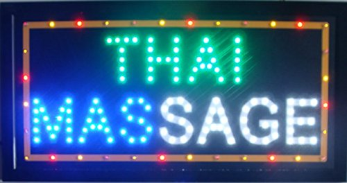 CHENXI Massage Spa Thai Massage store open signs hot sale 48 X 25 CM indoor ultra bright running care of led (48 X 25 CM, J) by CHENXI