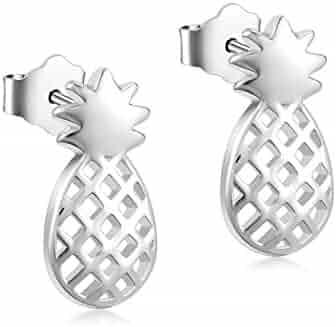 021739608 YFN Sterling Silver Pineapple Stud Earrings Jewelry for Women Girl kid Ear  Stud