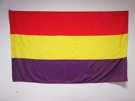 AZ FLAG Bandera ESPAÑA Republicana SIN Escudo 150x90cm para Palo ...