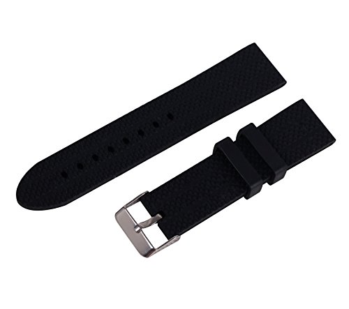 Swatch Replacement Rubber Strap Watch 22mm (Black) - 7