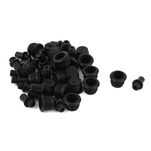 eDealMax Material plástico Post Socket Tipo de altavoces Grill fijar Tacos Espárragos 20Pcs Negro