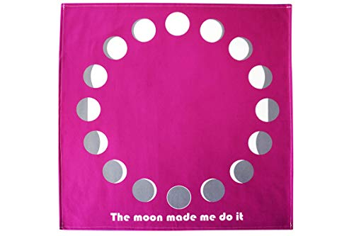 (Moon Phases Altar Tarot Cloth (Large, 24 inches x 24 inches) (Purple))