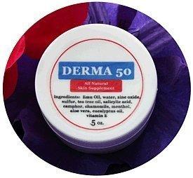 Purple Emu Derma 50 All Natural Skin Supplement Wound and Burn Cream with  Emu Oil  5oz  Jar