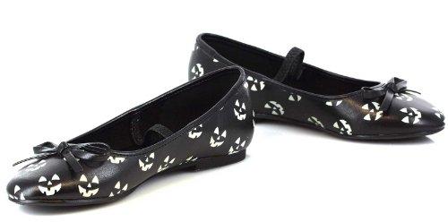 Ellie Shoes Girls Glow in the Dark Pumpkin Ballet Flat Child Shoes ()