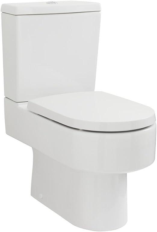 Hudson Reed Inodoro WC de Pie Moderno con Salida Horizontal con ...
