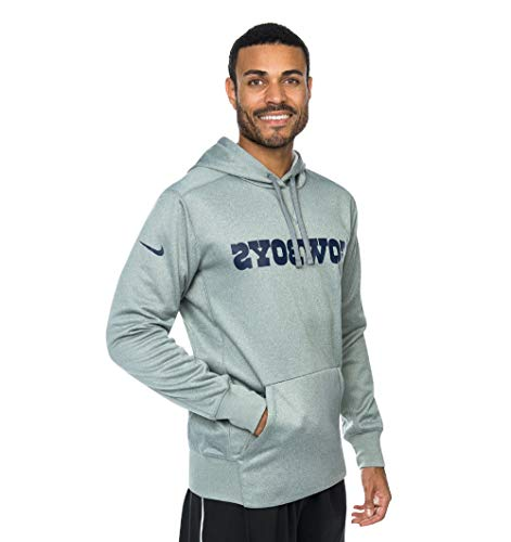 Dallas Cowboys Nike Performance Circuit Wordmark Hoody (Grey, S) ()