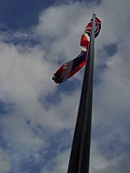 Image Unavailable & 5 Meter Telescopic Flagpole Including A Standard Ground Stake ...