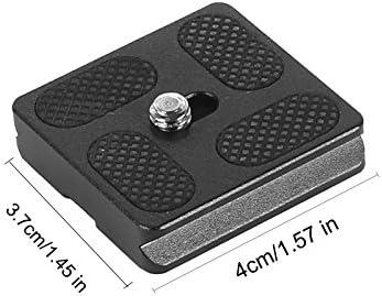 PerGrate PU40 PU50 PU60 PU70 PU100 Schnellwechselplatte mit 1//4 Zoll Schraubbefestigung f/ür Stativ Monopod Kugelkopf