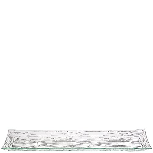 Couronne Company 2055 Monterrey Rectangle Recycled Glass Plate, 24