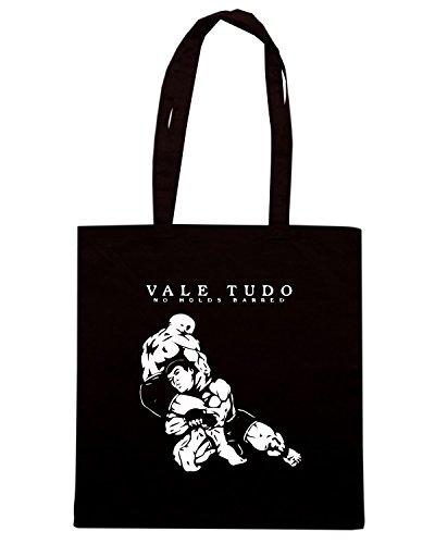 T-Shirtshock - Bolsa para la compra TAM0212 vale tudo no holds barred hooded tshirt Negro