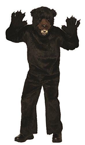 Forum Men's Deluxe Scary Bear Costume, Black, Std - Black Bear Deluxe Costumes