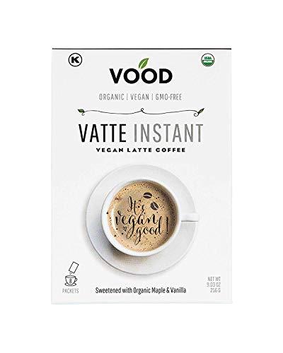 Vatte Instant by VOOD - 100% Vegan & Organic Instant Coffee Latte - Vanilla Flavor - 8 x Single Serve Packets - Gluten-free, Soy-free, Dairy-free, GMO-free & Kosher - Best Gourmet Drinks Powder