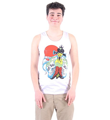 [Big Trouble Little China Fu Manchu White Men's Tank Top (Large)] (Gill Man Costume)