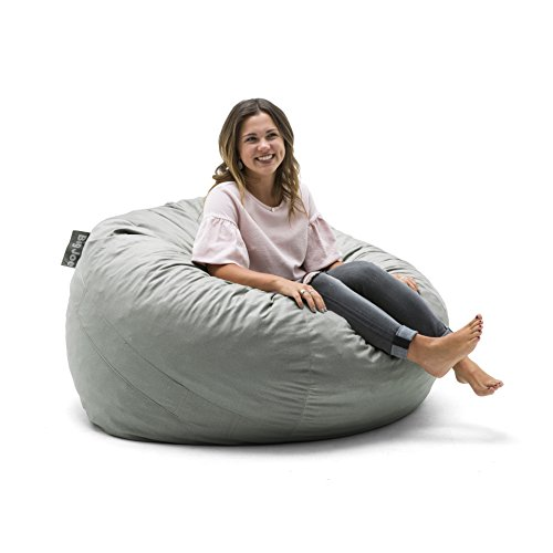 Big Joe 0010658 Foam Filled Bean Bag Chair, Large, Fog Lenox