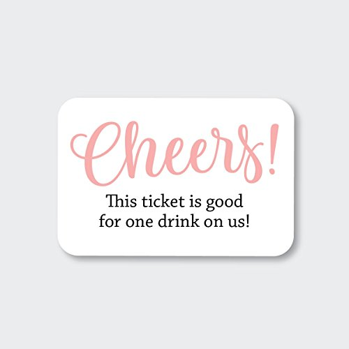 70ct Wedding, Birthday, Engagement Party and Other Event Cash Bar Drink Tickets (RR-145-BL) ()