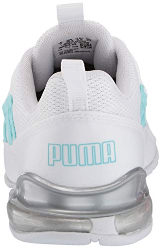 PUMA Women's Riaze Prowl Sneaker, White-Gulf Stream, 10 M US
