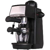 Grunkel - CAFPRESO-H5 PRES - Cafetera espresso con 5 bares de presión y capacidad para 4 tazas. Pistola de espuma con…