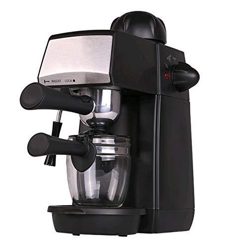 Grunkel – CAFPRESO-H5 BAR – Cafetera espresso con 5 bares de presión y capacidad para 4 tazas. Pistola de espuma con…