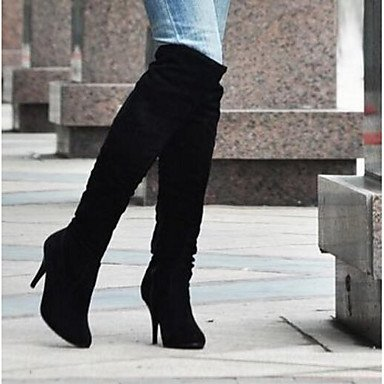 Women's Boots Comfort PU Fall Winter Casual Comfort Blue Brown Black White 2in-2 3/4in White kPx8Mxk