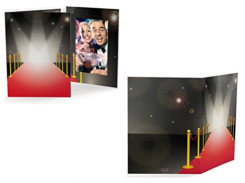 Red Carpet 4x6 Cardboard Event Photo Folders (25 Pack) - Vertical