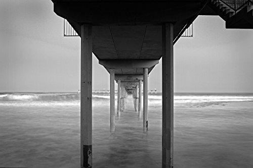 Ocean Beach Pier, Black and White California Coastal Fine Art ()