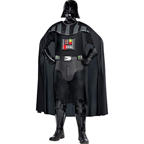 SUIT YOURSELF Darth Vader Deluxe Halloween Costume for Men, Star Wars, Plus Size, Includes Accessories ()