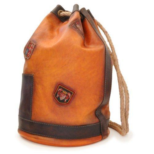 Pratesi Italian Leather Patagonia- Drawstring Leather Sailor Bag, Bruce Cognac by Pratesi Leather
