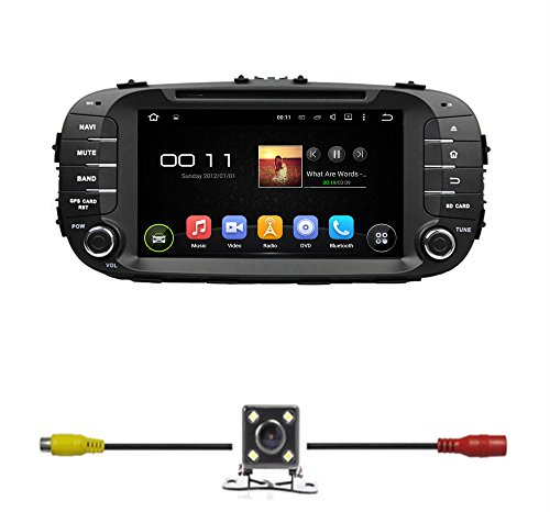 BlueLotus 8″ Android 5.1 Quad Core Car DVD GPS Navigation for Kia Soul 2014 w/Radio+RDS+Bluetooth+WIFI+SWC+AUX In +Free Backup Camera + US Map Review
