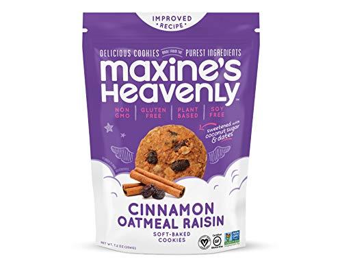 Maxine's Heavenly - Vegan, Gluten Free, Soy Free, Non-GMO - Cinnamon Oatmeal Raisin Cookies