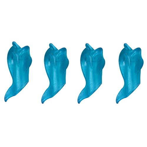 Gowersdee Fish-Shaped Pencil Grips Original Breakthrough Assorted Writing Aid Grip Trainer Posture Correction Finger Grip for Kids Preschoolers Children Adults Special Needs for Beginners (Blue)]()