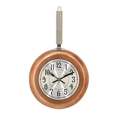 Benzara Metal Copper Wall Clock, Medium