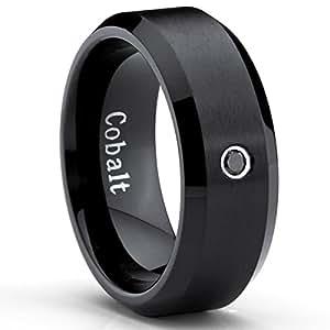 image unavailable - Cobalt Wedding Rings