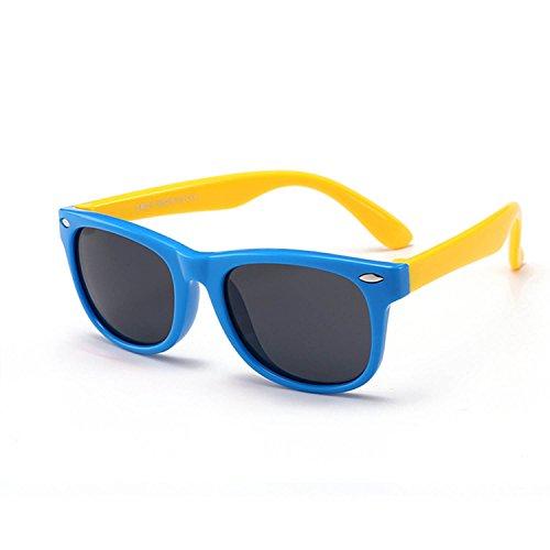 Manufacturers New Spot Wholesale Classic Silicone Fashion Radiation Polarized Sunglasses Baby Glasses Children's Sunglasses,Yellow basket