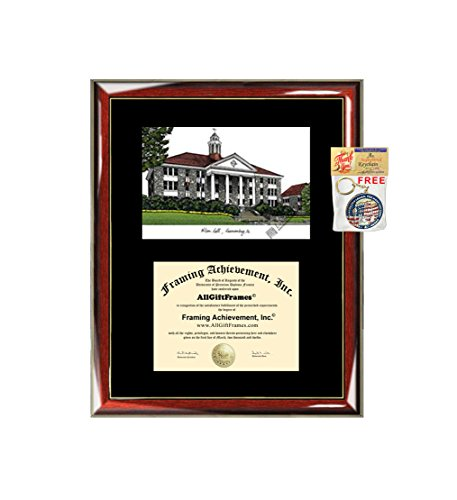 (James Madison University JMU Diploma Frame Lithograph - Premium Wood Glossy Prestige Mahogany with Gold Accents - Single Black Mat - University Diploma Frame)