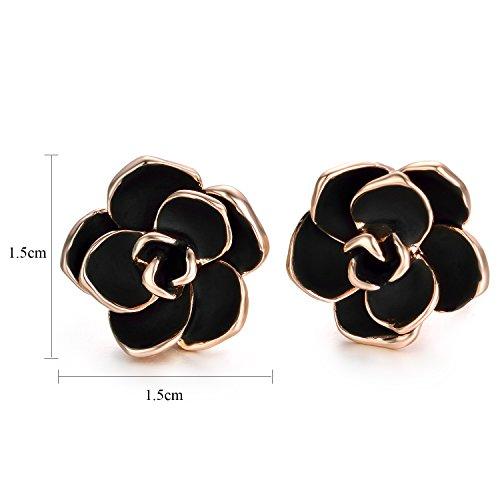 Buy black clip earrings
