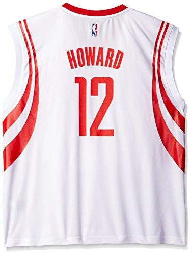 adidas NBA Men's Houston Rockets Dwight Howard Replica Player Home Jersey, Medium, White