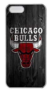 iPhone 5S Case, iPhone 5 Case - Crystal Clear Transparent Hard Case for iPhone 5s 5 5G with Design Wood Bulls