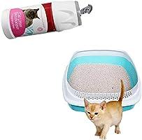 Desodorante en polvo 2019 para arena de gato, para hornear, refrescar y desinfectar el olor de mascotas, y funda de almohada para gatos, producto de limpieza, juguete para inodoro, arena para gatos,