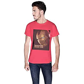 Creo Pink Cotton Round Neck T-Shirt For Men