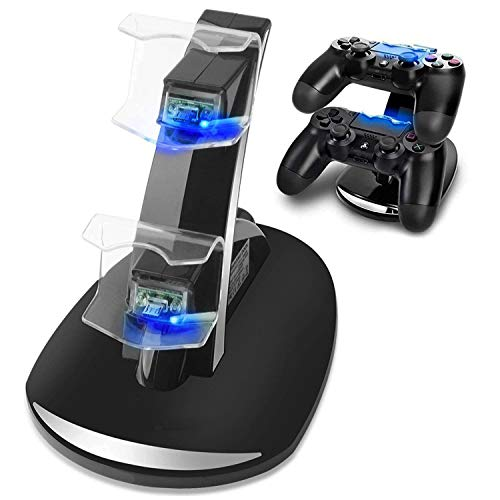 TOPAUP PS4 Charging Station Controller Charger Dual USB LED Charging Stand Charger Dock Gaming Controller
