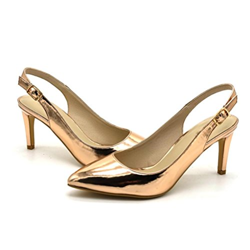 prendre bande pointues hauts confortables la talons mode la de gold à discothèque la femmes l'arrière à pour boucle talons chaussures simples voyage à fins XIE Sandales partie de de YzO6qTz