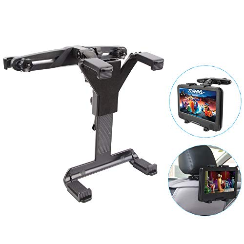 (MAYOGA Car Headrest Mount Universal Tablet Holder Stand Car Headrest Tablet Mount Cradle Backseat Bracket Compatible with iPad Air/Mini/Samsung Galaxy Tab/Portable DVD Player/Kindle Fire/7-12 Inches T)