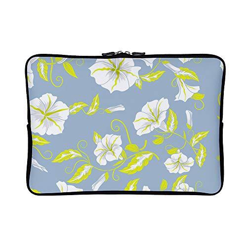 DKISEE Abstract Floral Decorative Flowers Pastel Seamless Pattern Neoprene Laptop Sleeve Case Waterproof Sleeve Case Cover Bag for MacBook/Notebook/Ultrabook/Chromebooks