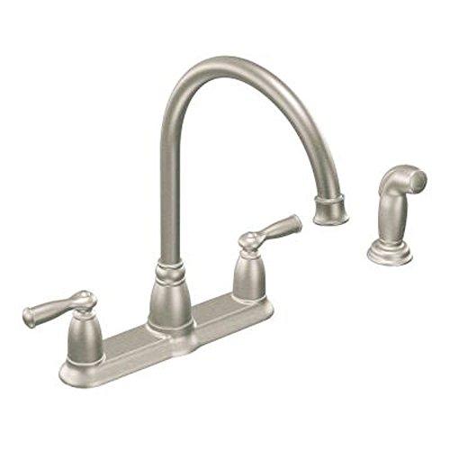 moen banbury high arc kitchen faucet stainless