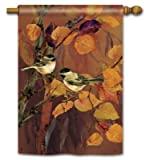 Magnet Works MAIL96396 Autumn Chickadees Standard Flag For Sale