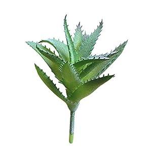 MARJON FlowersArtificial Aloe Plants Fake Vera Plants Faux Floral DIY Home Decor Arrangement Green 28
