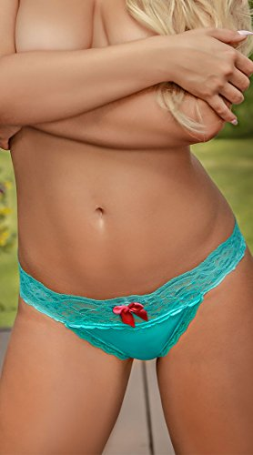 Magic Silk Teal Beauty Thong