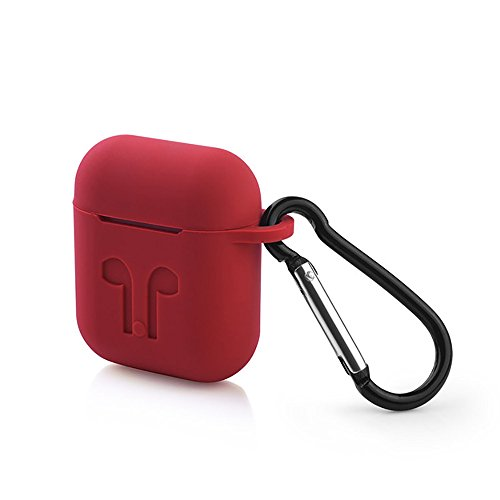 Price comparison product image New Design AirPods Case Silicone Protective Cover and Skin Shock Proof for Apple Airpods Charging Case (Red)