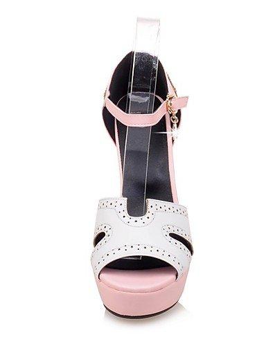 LFNLYX Zapatos de mujer-Tacón Robusto-Tacones / Punta Abierta / Comfort / Innovador / Botas a la Moda / Zapatos y Bolsos a Juego-Sandalias / Pink