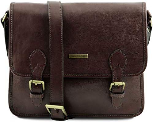 Tuscany Leather TL Postman Leather messenger bag Dark Brown